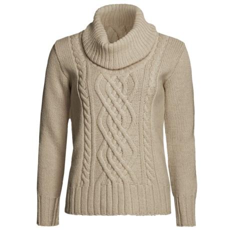 Peregrine by J.G. Glover Merino Wool Sweater - Cowl Neck (For Women) in Beige