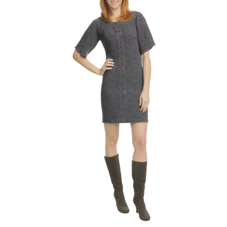 Peregrine by J.G. Glover Merino Wool Sweater Dress - Short Sleeve (For Women) in Denim