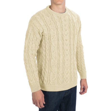 Peregrine by J.G. Glover Merino Wool Sweater (For Men) in Ecru