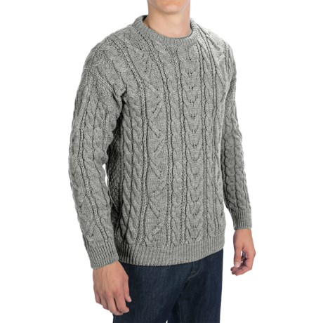 Peregrine by J.G. Glover Merino Wool Sweater (For Men) in Light Grey