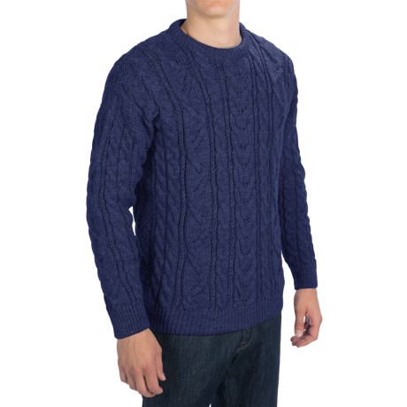 Peregrine by J.G. Glover Merino Wool Sweater (For Men) in Navy