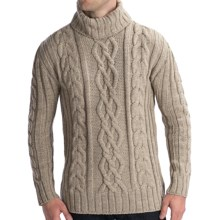 Peregrine by J.G. Glover Merino Wool Sweater - Turtleneck (For Men) in Beige - Closeouts