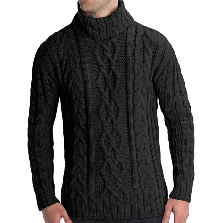 Peregrine by J.G. Glover Merino Wool Sweater - Turtleneck (For Men) in Charcoal