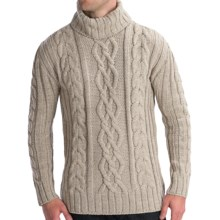 Peregrine by J.G. Glover Merino Wool Sweater - Turtleneck (For Men) in Dirty White - Closeouts