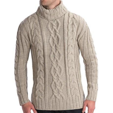 Peregrine by J.G. Glover Merino Wool Sweater - Turtleneck (For Men) in Beige