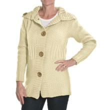 Peregrine by J.G. Glover Moss Stitch Cardigan Sweater - Merino Wool (For Women) in Ecru - Closeouts