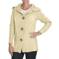 Peregrine by J.G. Glover Moss Stitch Cardigan Sweater - Merino Wool (For Women) in Ecru
