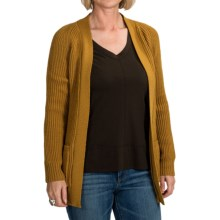 Peregrine by J.G. Glover Open Front Cardigan Sweater - Merino Wool (For Women) in Ochre - Closeouts