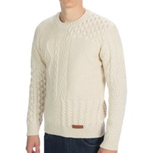 Peregrine by J.G .Glover Patchwork Aran Sweater (For Men) in Ecru - Closeouts