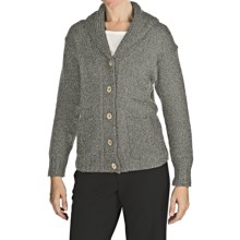 Peregrine by J.G. Glover Peruvian Merino Wool Cardigan Sweater (For Women) in Light Grey - Closeouts