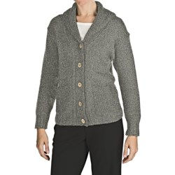 Peregrine by J.G. Glover Peruvian Merino Wool Cardigan Sweater (For Women) in Light Grey