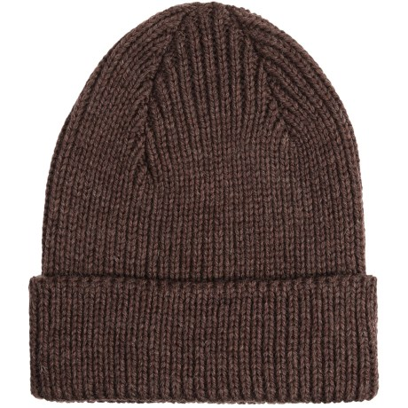 Peregrine by J.G. Glover Rib-Knit Beanie Hat - Merino Wool (For Men and Women) in Dark Brown