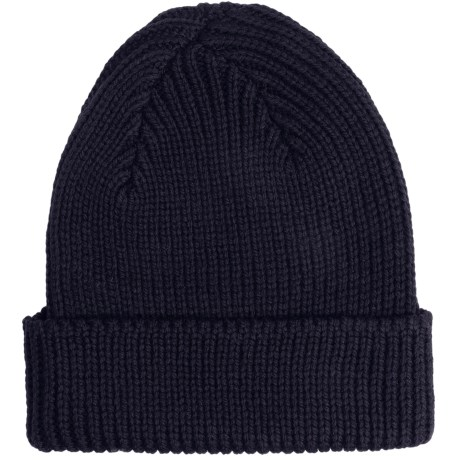 Peregrine by J.G. Glover Rib-Knit Beanie Hat - Merino Wool (For Men and Women) in Navy