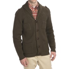 Peregrine by J.G. Glover Shawl Cardigan Sweater (For Men) in Khaki - Closeouts