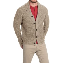 Peregrine by J.G. Glover Shawl Collar Cardigan Sweater - Merino Wool (For Men) in Beige - Closeouts