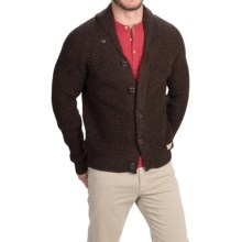 Peregrine by J.G. Glover Shawl Collar Cardigan Sweater - Merino Wool (For Men) in Walnut - Closeouts