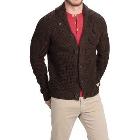 Men's Peregrine by J.G. Glover Shawl Collar Cardigan Sweater - Merino Wool