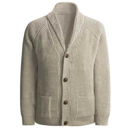 Peregrine by J.G. Glover Sweater - Merino Wool , Shawl Neck (For Men) in Beige - Closeouts