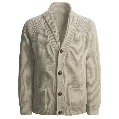 Peregrine by J.G. Glover Sweater - Merino Wool , Shawl Neck (For Men) in Beige
