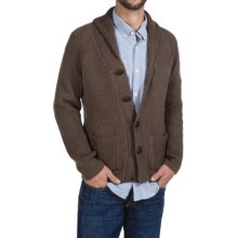 Peregrine by J.G. Glover Sweater - Merino Wool , Shawl Neck (For Men) in Brown - Closeouts