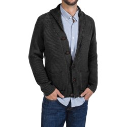 Peregrine by J.G. Glover Sweater - Merino Wool , Shawl Neck (For Men) in Charcoal