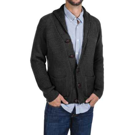Peregrine by J.G. Glover Sweater - Merino Wool , Shawl Neck (For Men) in Charcoal - Closeouts