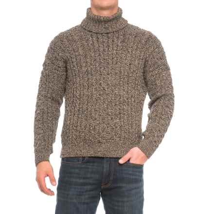 Peregrine by J.G. Glover Turtleneck Aran Sweater - Merino Wool (For Men) in Bark - Closeouts