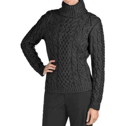 Peregrine by J.G. Glover Turtleneck Sweater - Peruvian Merino Wool (For Women) in Charcoal - Closeouts