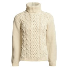 Peregrine by J.G. Glover Turtleneck Sweater - Peruvian Merino Wool (For Women) in Ecru - Closeouts