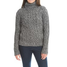 Peregrine by J.G. Glover Turtleneck Sweater - Peruvian Merino Wool (For Women) in Humbug - Closeouts