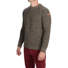 Peregrine by J.G. Glover Waffle-Knit Sweater - Merino Wool (For Men) in Bark - Closeouts