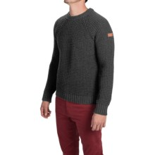 Peregrine by J.G. Glover Waffle-Knit Sweater - Merino Wool (For Men) in Charcoal - Closeouts