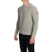 Peregrine by J.G. Glover Waffle-Knit Sweater - Merino Wool (For Men) in Light Grey - Closeouts