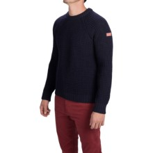 Peregrine by J.G. Glover Waffle-Knit Sweater - Merino Wool (For Men) in Navy - Closeouts