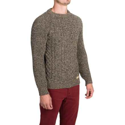 Peregrine by J.G. Glover Walter Aran Sweater (For Men) in Bark - Closeouts
