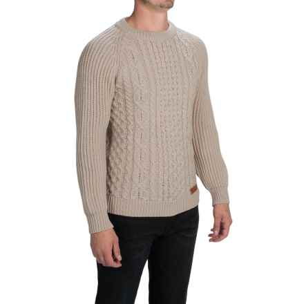 Peregrine by J.G. Glover Walter Aran Sweater (For Men) in Dirty White - Closeouts