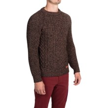 Peregrine by J.G. Glover Walter Aran Sweater (For Men) in Walnut - Closeouts