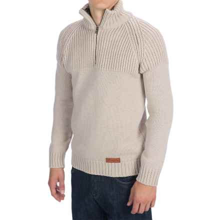 Peregrine Chunky Merino Wool Sweater (For Men) in Dirty White - Closeouts