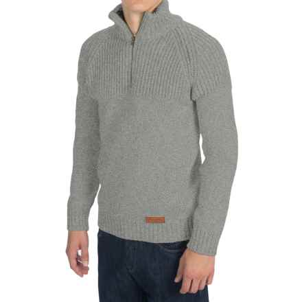 Peregrine Chunky Merino Wool Sweater (For Men) in Light Grey - Closeouts