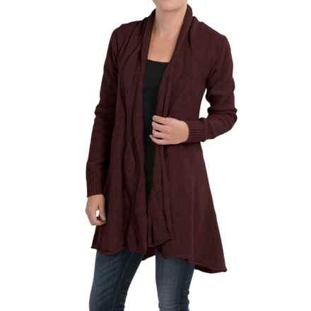 Peregrine Clifton Cardigan Sweater - Peruvian Merino Wool (For Women) in Shiraz - Closeouts