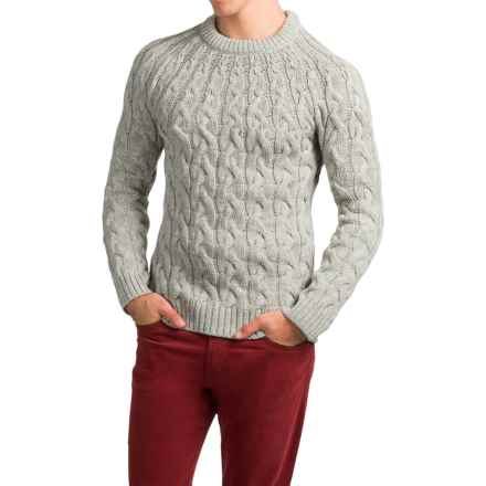 Peregrine Combe Sweater - Merino Wool (For Men) in Light Grey - Closeouts