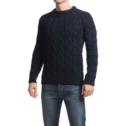 Peregrine Combe Sweater - Merino Wool (For Men) in Navy - Closeouts