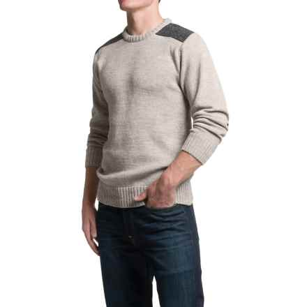 Peregrine Dave Sweater - Merino Wool, Crew Neck (For Men) in Light Grey - Closeouts