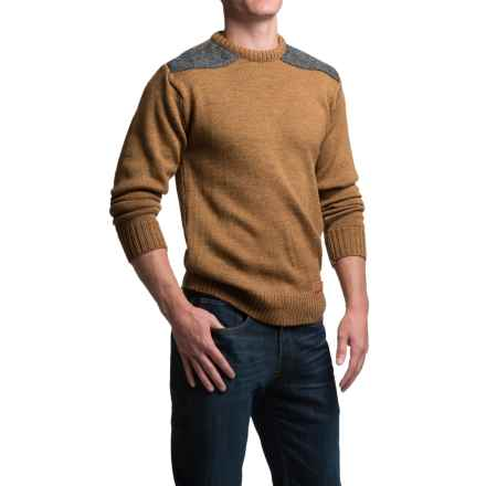 Peregrine Dave Sweater - Merino Wool, Crew Neck (For Men) in Wheat - Closeouts