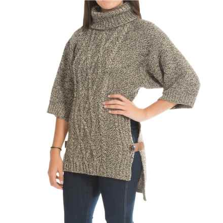 Peregrine Slouch Sweater - Peruvian Merino Wool, 3/4 Sleeve (For Women) in Bark - Closeouts