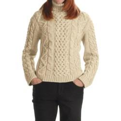 Peregrine Turtleneck Sweater - Peruvian Merino Wool (For Women) in Ecru