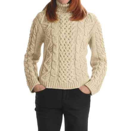 Peregrine Turtleneck Sweater - Peruvian Merino Wool (For Women) in Ecru - Closeouts