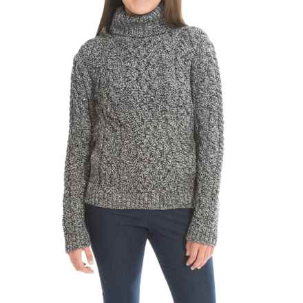 Peregrine Turtleneck Sweater - Peruvian Merino Wool (For Women) in Humbug - Closeouts