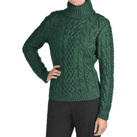 Peregrine Turtleneck Sweater - Peruvian Merino Wool (For Women) in Pine Forest - Closeouts
