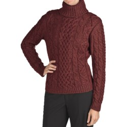 Peregrine Turtleneck Sweater - Peruvian Merino Wool (For Women) in Shiraz